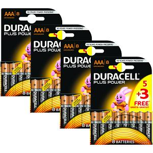 Paquete de 32 Pilas Duracell Plus Power AAA