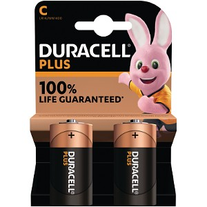 Duracell Plus Power tipo C (paquete de 2)