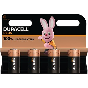 Duracell Plus Power tipo C (paquete de 4)