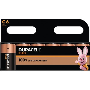 Duracell Plus Power tipo C (paquete de 6)