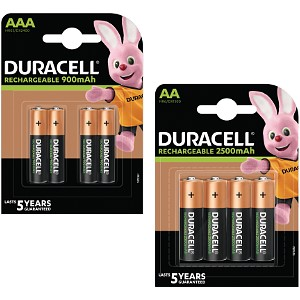 Pack de 8 Duracell Pre-Charged AA & AAA