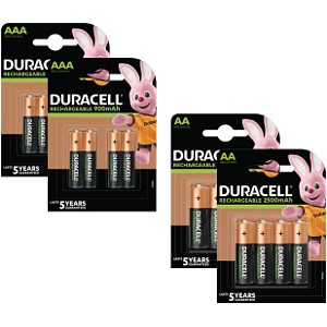 Pack de 16 Duracell Pre-Charged AA & AAA