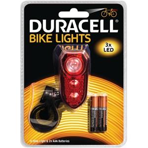 Image of Duracell Luz trasera 3 LED de bicicleta (BIK-B02RDU) PS-110492