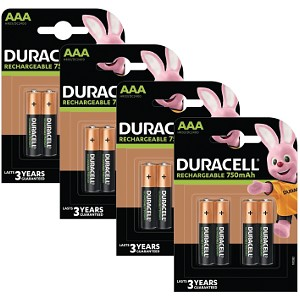 Duracell AAA 750mAh Rechargeable 16 Paq