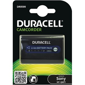Producto compatible Duracell DR9599 para sustituir Batería NP-QM51 Sony