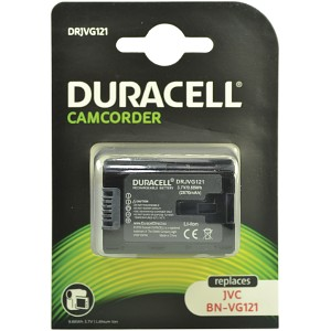 Producto compatible Duracell DRJVG121 para sustituir Batería BN-VG114U JVC