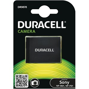 Producto compatible Duracell DR9678 para sustituir Batería NP-BD1 Sony