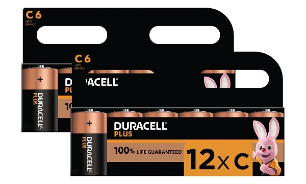 Duracell Plus Power tipo C (paquete de 12)