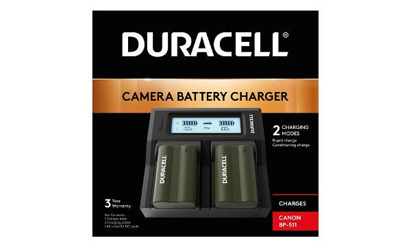 Media Storage M80 Canon BP-511 Dual Battery Charger