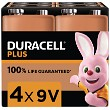 Duracell Plus Power 9V PP3 Paquete de 4